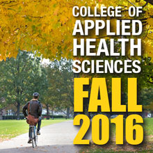 Illinois campus fall scene with text that reads AHA Fall 2016 E-News